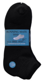 Running Mate Quarter Socks - Black (SR208B) - 1 Dozen