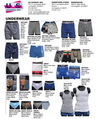 Men's underwear catalog