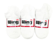 Wing Sports Low-Cut Socks - White (Size: 6-8) - 1 dozen