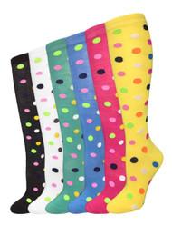 Julietta Knee-High Socks - Polka Dots (SR419) - 1 Dozen