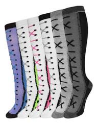 Julietta Knee-High Socks - Shoelaces (SR427) - 1 Dozen