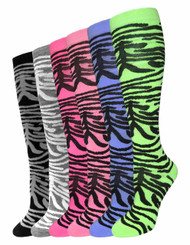 Julietta Knee-High Socks - Zebra (SR428) - 1 Dozen