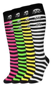 Julietta Knee-High Socks - Skulls (SR432) - 1 Dozen