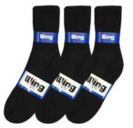 Wing Crew Sport Socks - Black (Size: 9-11) - 1 dozen