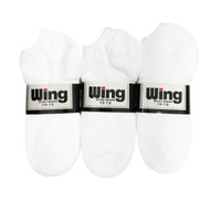 Wing Sports Low-Cut Socks - White (Size: 10-13) - 1 dozen