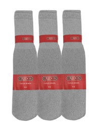 Credos Tube Socks - Grey (Size: 9-11) - 1 Dozen