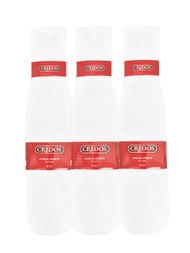 Credos Tube Socks - White (Size: 9-11) - 1 Dozen
