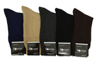 Focus Men's Dress Socks - Assorted Plain (Size: 9-11, 10-13) - 1 Dozen