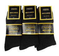 Credos Men's Dress Socks - Black (Size: 9-11, 10-13) - 1 Dozen