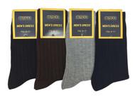 Credos Men's Dress Socks - Plain Assorted (Size: 9-11, 10-13) - 1 Dozen