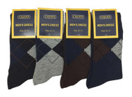 Credos Men's Dress Socks - Argyle Assorted (Size: 9-11, 10-13) - 1 Dozen