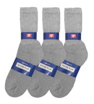 Socks Plus Crew Socks - Grey (Size: 9-11) - 1 Dozen