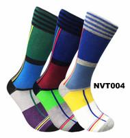 FineFit Novelty Socks 3 Pair Bundle - Square (NVT004) - 1 Dozen
