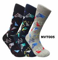 FineFit Novelty Socks 3 Pair Bundle - Shapes (NVT005) - 1 Dozen