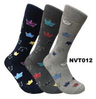 FineFit Novelty Socks 3 Pair Bundle -  Origami (NVT012) - 1 Dozen