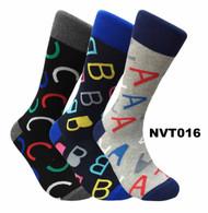FineFit Novelty Socks 3 Pair Bundle - ABC (NVT016) - 1 Dozen