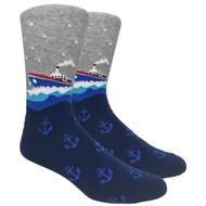 FineFit Novelty Socks - Steamboat (NV065) - 1 Dozen