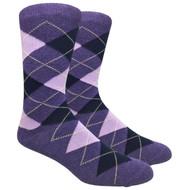 FineFit Black - Heather Purple Argyle (ADB012) - 1 Dozen