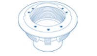 Paramount SDX Bulkhead for Vinyl/Fiberglass Pools