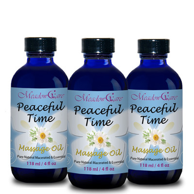 MeadowCare Peaceful Time Massage Oil 4oz 3-Pack