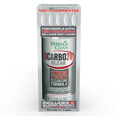 Herbal Clean QCarbo20 Clear Strawberry-Mango 20 fl oz (591ml)