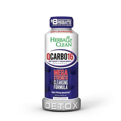 Herbal Clean QCarbo16 Mega Strength with Eliminex Grape 16 fl oz (473 ml)