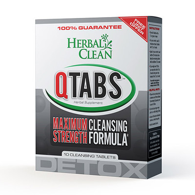 Herbal Clean QTabs Maximum Strength Cleansing Formula 10 Tablets