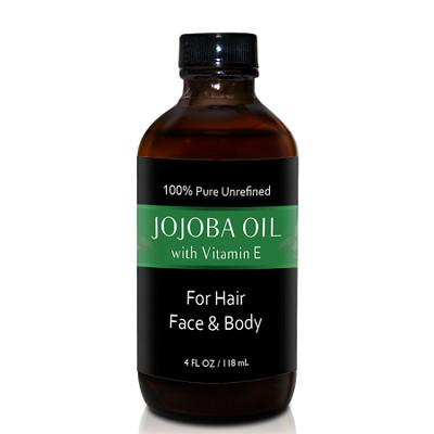 Herbal Tea House 100% Pure Unrefined JOJOBA OIL with VIAMIN E 4oz