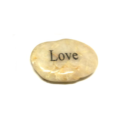 Engraved Inspirational River Stone - LOVE