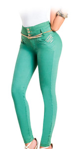 Latin Fit Jeans by Esencial - Lisboa Green