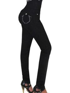 Black Cargo U Jeans Side