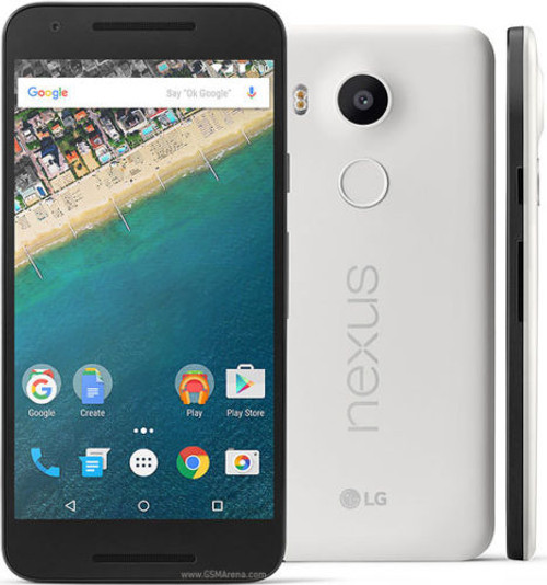 "LG Nexus 5X WHITE 5.2"" LCD 32GB 6-Cores 12.3MP FACTORY UNLOCKED Phone"