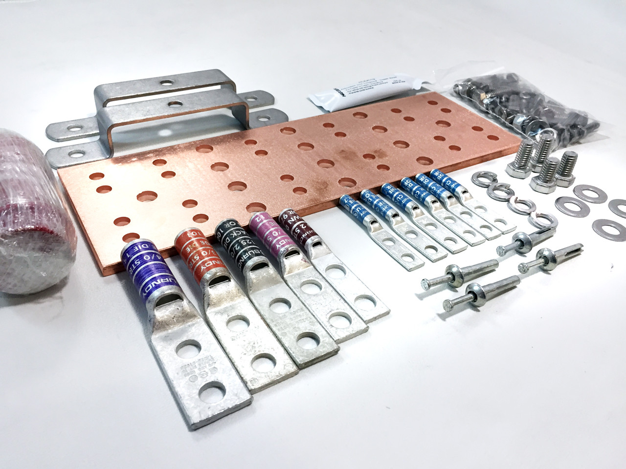 """SBTMGB12K Equivalent 12"""" Main Grounding Bar Assembly and Harkware Kit (SBTMGB12K)"""