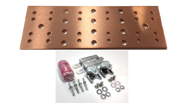 "BB-TMGB-4-20-K1 - 20"" Main Ground Bar Assembly and Hardware Kit (no lugs)"