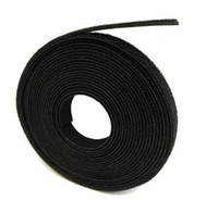 "3/4"" HOOK AND LOOP BLACK 75FT ROLL - VRHL3475FTBK"