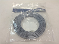 14 FT FLAT SATIN SILVER RJ11 6 WIRE STRAIGHT PINNING CABLE