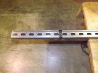 "1-5/8"" x 1-5/8"" 12 Gage Channel 10 FT Slotted Plain Finish"