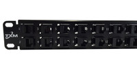 "CAT6 32-Port High Density Patch Panel by TXM 1 RU 19"" Unshielded Feed Through"