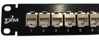 "JPM804A-R2 Equiv CAT5e 24-Port High-Density Patch Panel 1RU 19"" Shielded Feed Through"