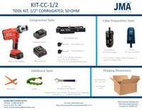 "KIT-CC-1/2 - TOOL KIT, 1/2"" CORRUGATED, 50 OHM"