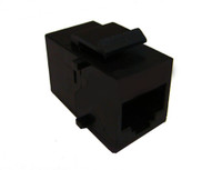 TXM KJCC5RJ45FUBK Cat5e Keystone Inline Coupler  Female Unshielded Black