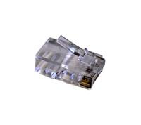 TXM CAT5EPLGM100 CAT5E RJ45 Unshielded Plug 50 Micron Plating (100 Pack)