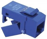 Platinum Tools 706BL-4C EZ-SnapJack Cat6, Blue.  4/Clamshell.