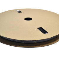 "TXM 38HSBFR50FT 3/8"" Heat Shrink Tubing 2:1 Black PVC #6 #8 (50')"