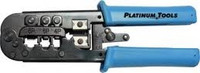 Platinum Tools 12503C All-In-One Modular Plug Crimp Tool.  Clamshell.