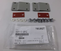 "Telect 02117-01I 1RU Adapter Kit 19""-23"" EIA MTG w/ Isolation Pad (TE Gray)"