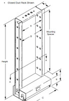 0040970130 - EQUIPMENT RACK UNEQUAL CLSD 19