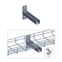 "T WALL HOLDER W/CLAMP SET, ZINC 4"",6"",8"" or 12"""