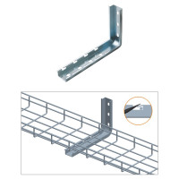 "L WALL BRACKET, ZINC 4"",6"",8"" or 12"""