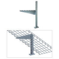 "FLAG TYPE FLOOR STAND, ZINC 4"",6"",8"" or 12"""
